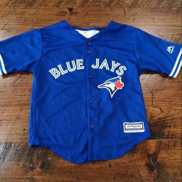 Official MLB wear size 4T Blue Jays jersey